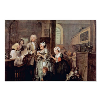 """The Marriage Of A Widow """" By Hogarth William Poster"""