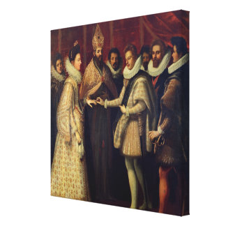 The Marriage of Catherine de Medici Canvas Print