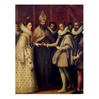 The Marriage of Catherine de Medici Postcard