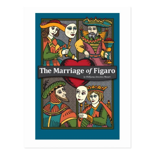 The Marriage of Figaro, Opera Postcard