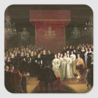 The Marriage of Frederick William Square Sticker