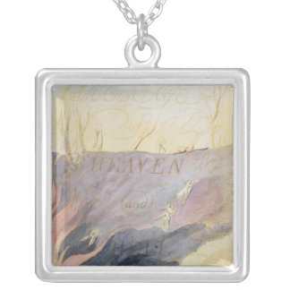 The Marriage of Heaven and Hell Square Pendant Necklace