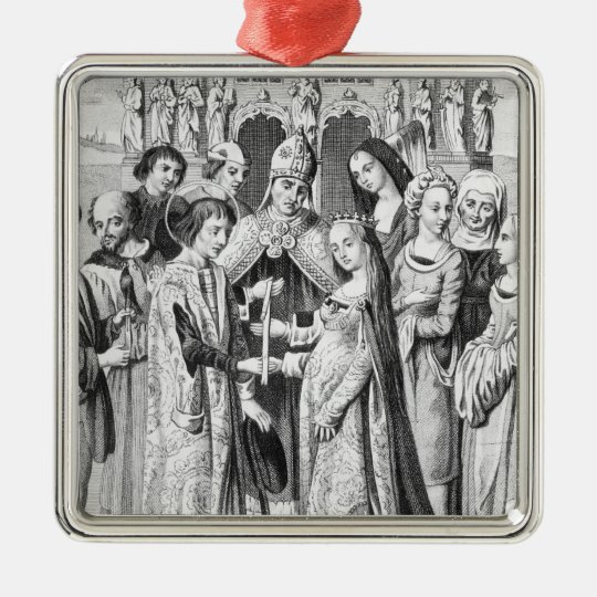 The Marriage of Henry VI and Margaret of Anjou Metal Ornament