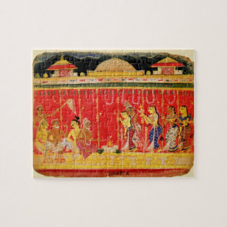 The Marriage of Krishna's Parents, from a disperse Jigsaw Puzzle