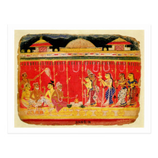 The Marriage of Krishna's Parents, from a disperse Postcard