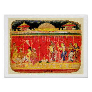 The Marriage of Krishna's Parents, from a disperse Poster