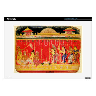 """The Marriage of Krishna's Parents, from a disperse Decal For 15"""" Laptop"""