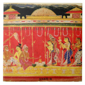 The Marriage of Krishna's Parents, from a disperse Ceramic Tiles