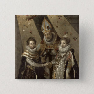The Marriage of Louis XIII Pinback Button