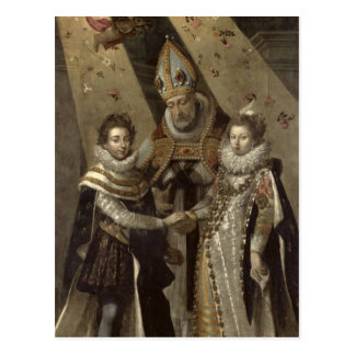 The Marriage of Louis XIII Postcard