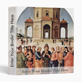 The Marriage Of Mary By Perugino Pietro 3 Ring Binders
