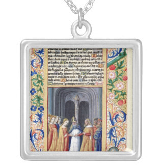 The marriage of Michal to David Silver Plated Necklace