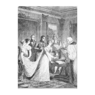 The Marriage of The Princess Charlotte of Canvas Print