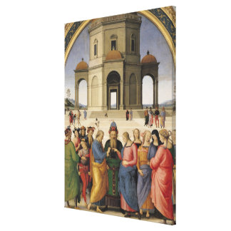 The Marriage of the Virgin, 1500-04 Canvas Print