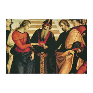 The Marriage of the Virgin, 1504 Canvas Print