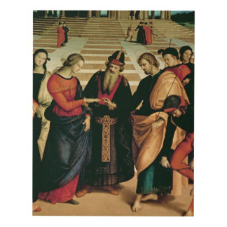 The Marriage of the Virgin, 1504 Panel Wall Art