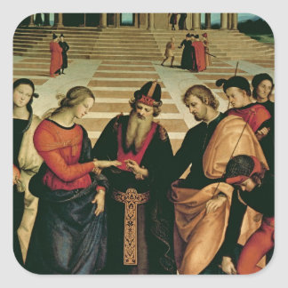 The Marriage of the Virgin, 1504 Square Sticker
