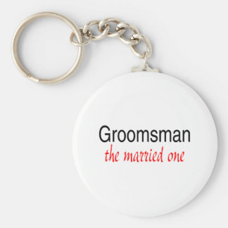 The Married One (Groomsman) Basic Round Button Keychain
