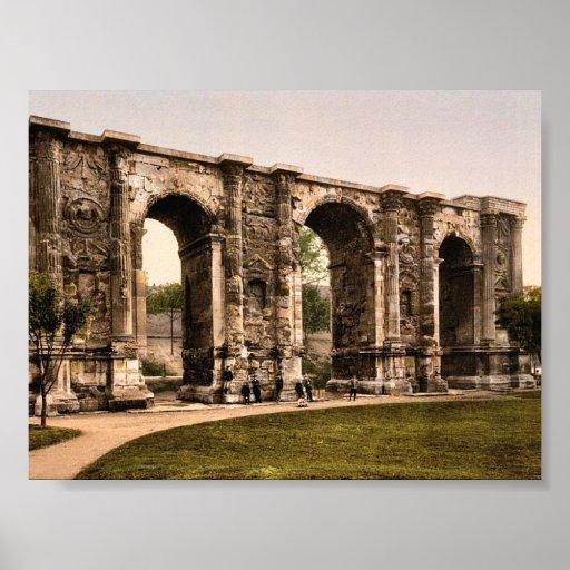 The Mars Gate, Rheims, France vintage Photochrom Print