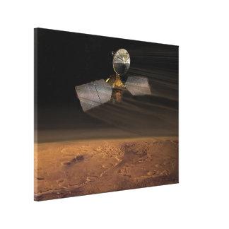 The Mars Reconnaissance Orbiter Reducing Speed Canvas Print