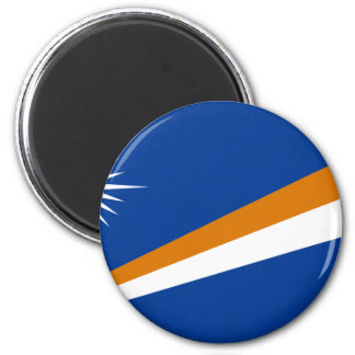 The Marshall Islands Flag 2 Inch Round Magnet