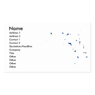 The Marshall Islands Flag Map Double-Sided Standard Business Cards (Pack Of 100)