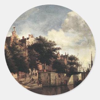 The Martelaarsgracht in Amsterdam by Adriaen Classic Round Sticker