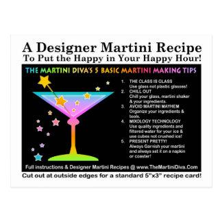 The Martini Diva's 5 Basic Martini Tips Postcard