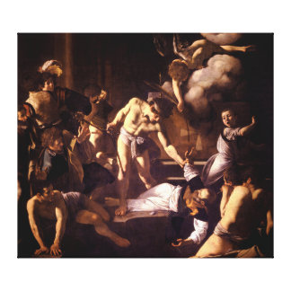 The Martyrdom of Saint Matthew by Caravaggio 1600 Canvas Print