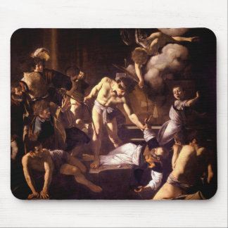 The Martyrdom of Saint Matthew by Caravaggio 1600 Mouse Pad