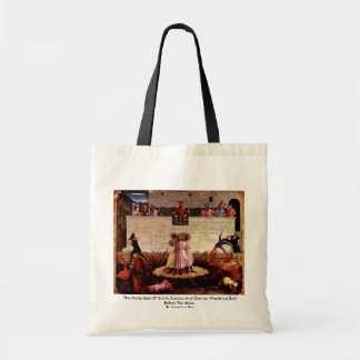 The Martyrdom Of Saints Cosmas And Damian Canvas Bags