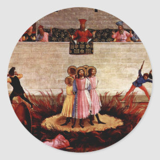 The Martyrdom Of Saints Cosmas And Damian Round Stickers