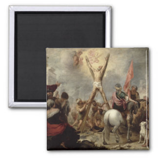 The Martyrdom of St. Andrew, 1675-82 (oil on canva Magnet