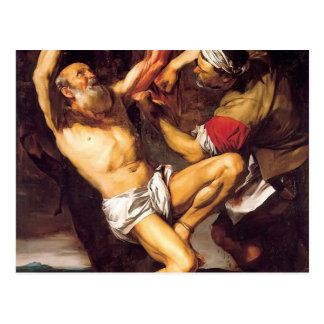 The Martyrdom of St. Bartholomew by Jusepe Ribera Postcard