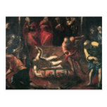 The Martyrdom of St. Lazarus by Tintoretto Postcard