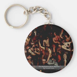 The Martyrdom Of St. Romulus By Portelli Carlo Keychains