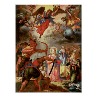 The Martyrdom of St. Ursula, early 17th century Poster