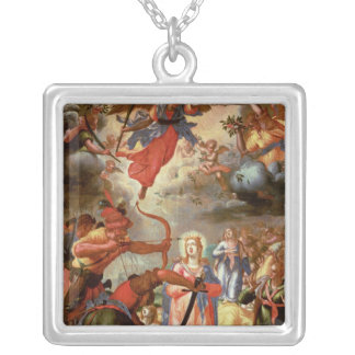The Martyrdom of St. Ursula, early 17th century Silver Plated Necklace