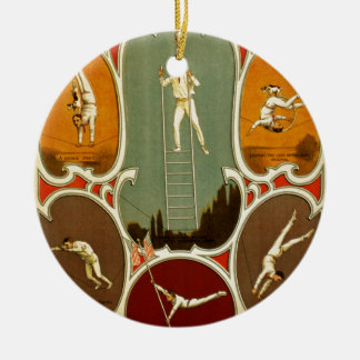 The Marvellous Bard Double-Sided Ceramic Round Christmas Ornament