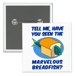 The Marvelous Breadfish 2 Inch Square Button
