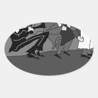 The Marx Brothers.jpg Oval Sticker