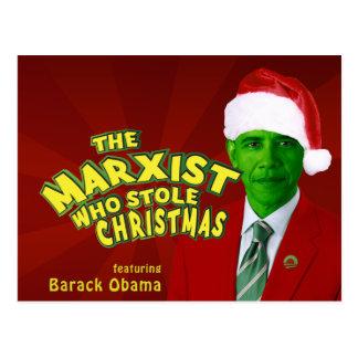 The Marxist Who Stole Christmas Postcard