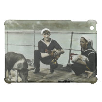 The Mascots Vintage WWII Sailor Rooster Pig Cover For The iPad Mini