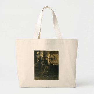 The Mask of the Red Death by Odilon Redon Jumbo Tote Bag