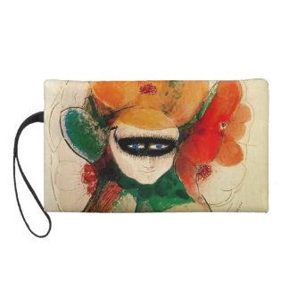 The Masked Anemone by Odilon Redon Wristlet Purses