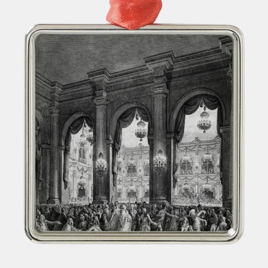 The masked ball, 23rd January 1782 Metal Ornament