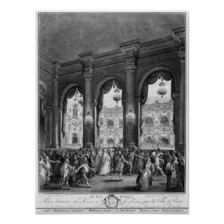 The masked ball, 23rd January 1782 Poster