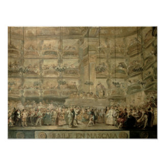 The Masked Ball, c.1767 Poster