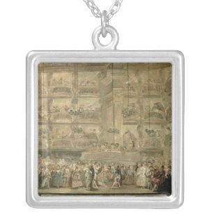 The Masked Ball, c.1767 Silver Plated Necklace