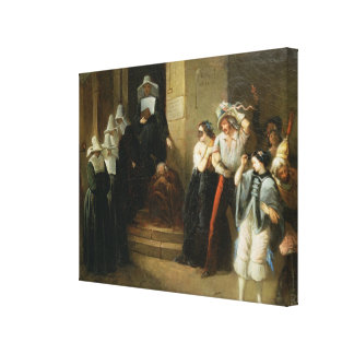 The Masked Ball, c.1870 Canvas Print